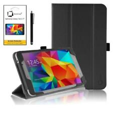 Carcasas, cubiertas y fundas negro Galaxy Tab 4 de piel sintética para tablets e eBooks