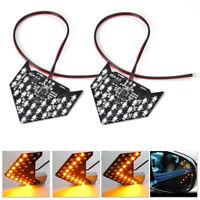 2stk Auto 27 LED Außenspiegel Blinker Gelb Pfeil Panel Licht Indikator Lampe Neu