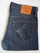 Levi's 508 Jeans Regular Tapered Leg W34 L34 vintage bleu foncé délavé levh 547 #