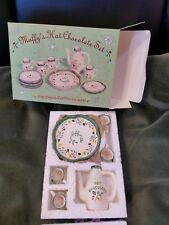 Christmas Santa w Muffy's Hot Chocolate Set , Santa's Workshop Muffy Snowdome,