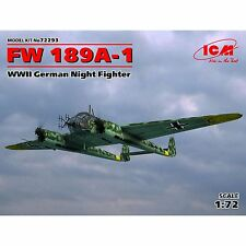 Focke Wulf FW-189 A-1 noche Fighter Uhu (Luftwaffe marcas) #72293 ICM 1/72