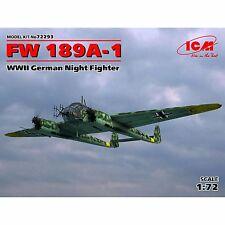 FOCKE WULF FW-189 A-1 NIGHT FIGHTER UHU (LUFTWAFFE MARKINGS) #72293 1/72 ICM