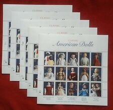 NEW 75 (5 Panes / Sheets x 15) Souvenir Sheet CLASSIC AMERICAN DOLLS 32 ¢ Stamps