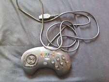 Competition Pro 6 botón Turbo Controlador para Sega Mega unidad serie III