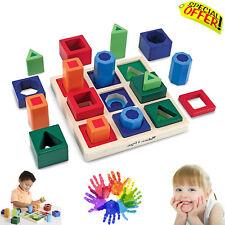 Sensory Educational Puzzle Toys Creative Sorting Shape Set Autism Special Needs