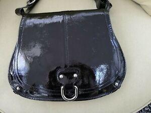 Russell & Bromley Black Patent Handbag