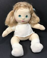 Vintage My Child Doll Girl 1985 Blonde Hair Turquoise Aqua Blue Eyes Plush