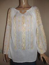 Hand embroidered Romanian peasant blouse , handmade top , ethnic shirt ,boho top