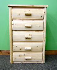 Premium Log Dresser 5 Drawers - $599 - Dovetail Drawers, Free Shipping