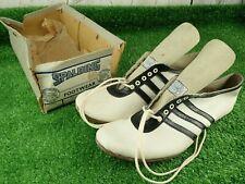 Vintage 1950's Spalding Footwear Running Spikes White Flyer - 6 1/2