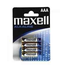 4 PILAS ALKALINAS MAXELL España Originales AAA PACK  DE 4 PILAS  Envio España