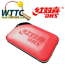 Double Happiness DHS RC302 Table Tennis Bat Cover - RED