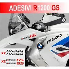 KIT ADESIVI BMW R 1200 GS STICKER BICLORE R1200GS ADESIVO NERO ROSSO CARENA
