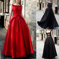Women Formal Long Prom Cocktail Party Ball Gown Evening Bridesmaid Wedding Dress