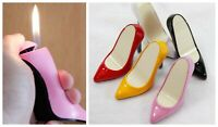 Creative Women Shoes Lighter Flame Butane Cigar Cigarette Refillable Lighters