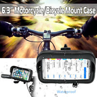 Waterproof Motorcycle Bicycle Cell Phone GPS Holder Case Bike Handlebar Mount