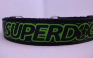 """Superdog"" 25mm Wide Adjustable Martingale/Half Choker Chain Dog Collar"