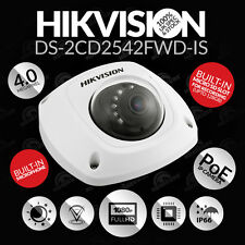 Hikvision 4MP IP DS-2CD2542FWD-IS Dome CCTV Camera Audio SD In/Outdoor 2.8mm WDR