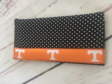 Moonshine University of Tennessee Black Polkadot Checkbook Cover Holder Wallet