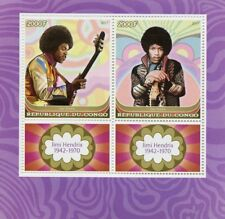Congo 2017 MNH Jimi Hendrix 2v M/S Music Celebrities Stamps