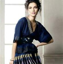 RARE Anthropologie NOV 2007 Lithe Blackwing Kimono Blouse Embroidered Top XS 2