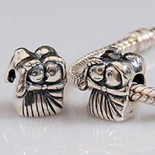 BRIDE GROOM WEDDING COUPLE Genuine 925 sterling silver charm 4 European Bracelet
