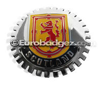 1 - NEW Royal Standard Scottish Chrome Front Grill Badge SCOTLAND FLAG MEDALLION