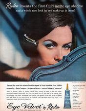 Revlon Eye Velvet Fluid Matte Eye Shadow VAN CLEEF & ARPELS JEWELED CLIP 1961 Ad