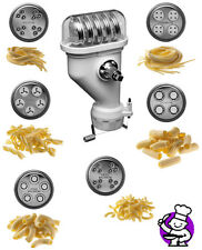 KitchenAid Mixer Pasta Press Stand-Mixer Attachment KPEXTA 6-pc Pasta spag maker
