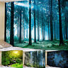 Night Forest Tree Tapestry Starry Sky Room Wall Hanging Art Bedspread Home Decor