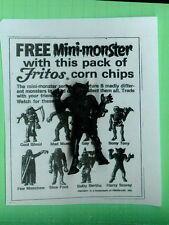VINTAGE MPC MONSTER   WEREWOLF    HARRY SCAREY  FRITOS+COPY OF AD