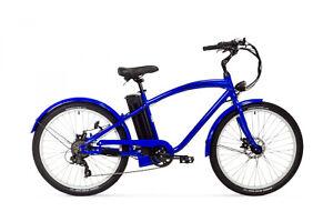 Varaneo E Bike Beachcruiser 250W 25 km/h 374 Wh Blau Pedelec Aluminium Rahmen
