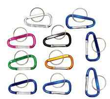 """(10) 2"""" Variety of Aluminum Carabiners W/ Key Ring Backpack Camping Hiking"""