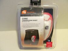 SHOCK DOCTOR Core Compression Shorts w/Bioflex Cup~Boys SMALL ~NEW in pkg.