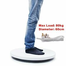 60cm 80kg Loading 360° Heavy Duty White Rotating Display Stand Turntable UK