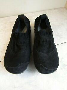 Dansko Cadence Flat Black Suede Slip On Comfort Shoe Women's Size EU 37 US 6.5-7