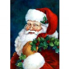 Round 5D Diy Diamond Painting Embroidery Santa Claus Stitch Kits Decoration
