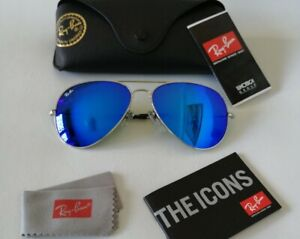Ray-Ban Aviator large Metal RB3025-58-135mm Blue Mirror -  Large/58 *Unisex*