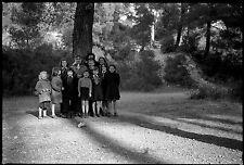 Groupe jeunes enfants - Ancien négatif photo an. 1950