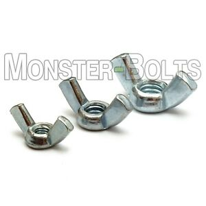 Forged Wing Nuts, Zinc Plated Steel Type A - #8-32 10-32, 10-24, 1/4-20, 5/16-18