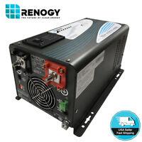 Renogy 1000W 12V Pure Sine Wave Inverter Charger DC AC Battery Power Converter
