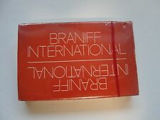 Braniff International Airways Issued Deck of Playing Cards - Unopened Orange Box