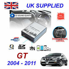 ALFA ROMEO GT mp3 USB SD CD AUX Input Adattatore Audio Digitale Caricatore CD Modulo
