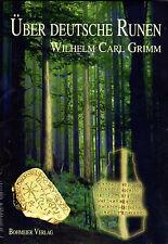 ÜBER DEUTSCHE RUNEN - Wilhelm Carl Grimm BUCH - NEU