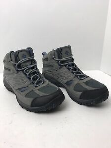 Columbia Access Point Mid Waterproof Hiking Boots Shoes Men's Sz 9.5 Wide Gray