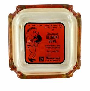 Vintage Brunswick Belmont Bowl Pueblo Colorado Bowling Advertising Ashtray