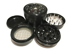 "SharpStone 2.2"" Inch Version 2.0 4pc Clear Top Herb Medium Black Grinder Extras"