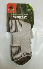 NEW Redback Boots Light Gray Bamboo Viscose Ankle Socks Men's Large 5 Pairs USA