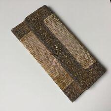 Sac de Soirée Broderie Perles De Verre Vintage 1970 Hong Kong Handbag