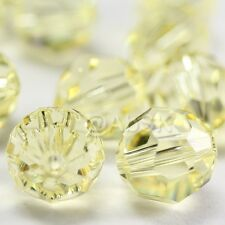 36 pcs Swarovski Element 5000 faceted 4mm Round Ball Beads Crystal Jonquil